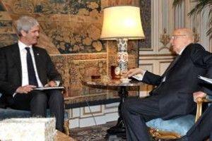 I geologi incontrano il presidente Napolitano