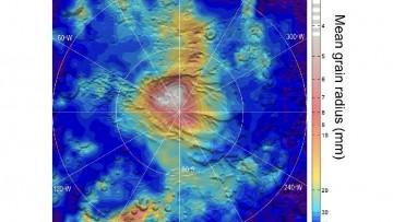 Le nevicate di ghiaccio secco su Marte