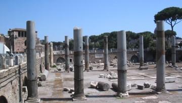 La pomice vesuviana nel cemento delle volte dei Fori romani