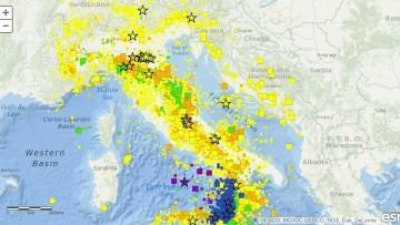 I terremoti nelle story map dell'Ingv