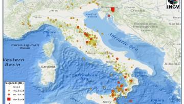 I terremoti in Italia a marzo 2014