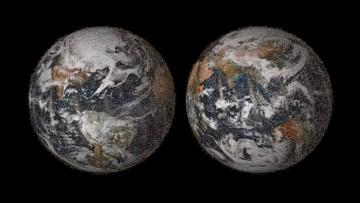 La Terra si fa un 'selfie' con l'aiuto delle Nasa