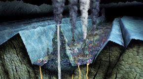 I vulcani sottomarini sono la fonte di ferro oceanica