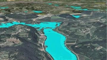 L'alluvione vista dal satellite