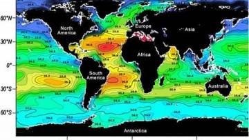 Completata la mappa globale della salinita' degli oceani