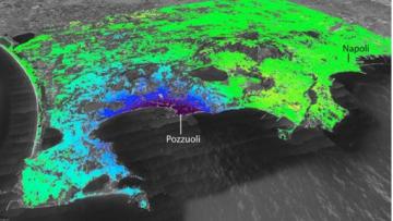 Campi Flegrei, satelliti e Gps per rilevare il sollevamento del magma profondo