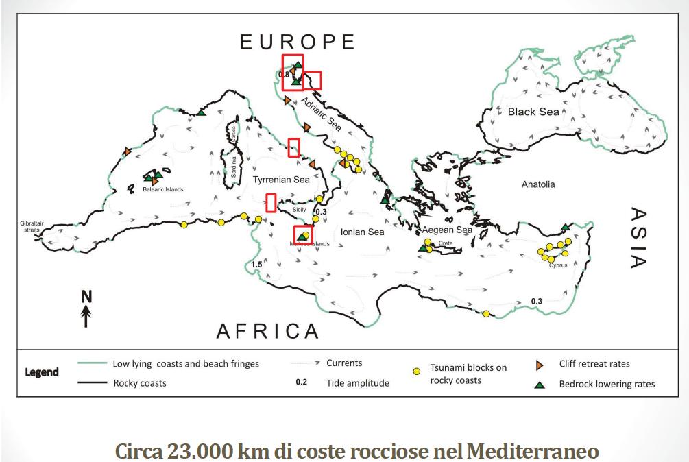 Mappa coste Mediterraneo (C) Enea