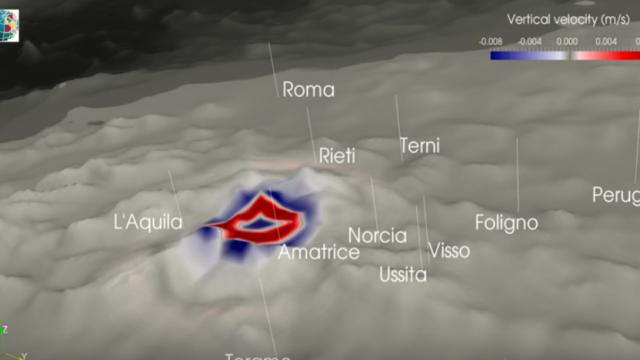 Terremoto 18 gennaio 2017: il video Ingv che mostra la propagazione delle onde